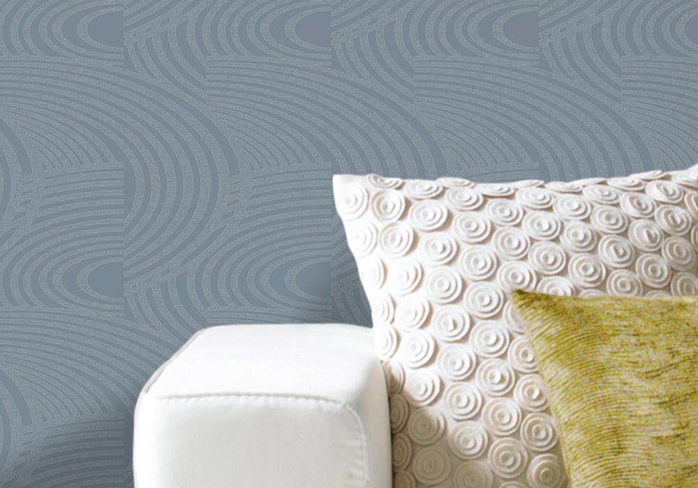 Grandeco Oasis Curve Stripe Pattern wallpaper