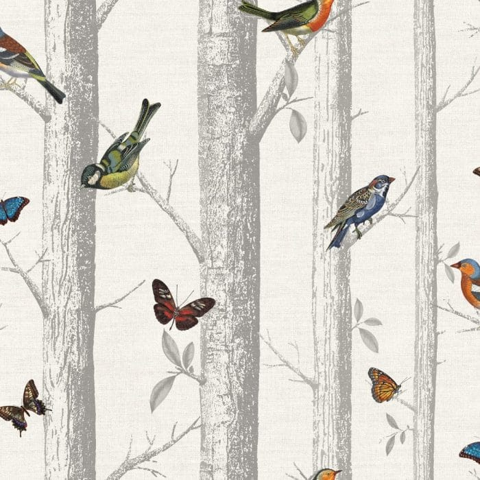 Holden Decor Bird and Butterfly Wallpaper