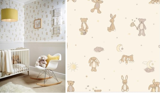 Sketched Bear Baby Room