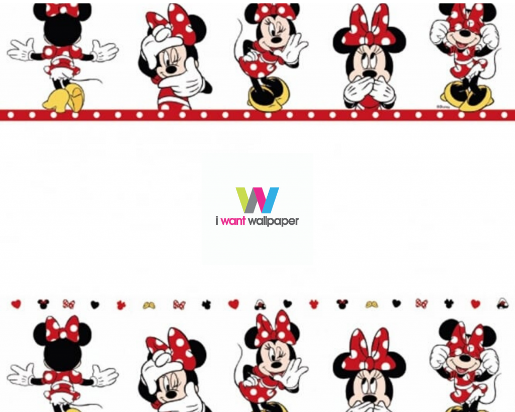 Minnie Mouse wallpaper borders for kids rooms