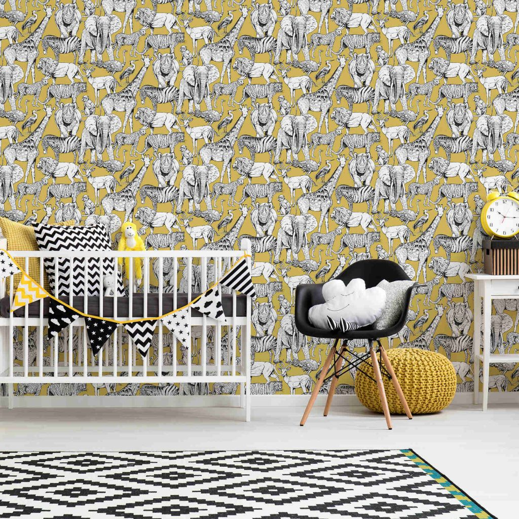 Superfresco mustard wallpaper in 2021 trend colours