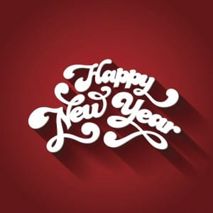 Happy New Year Typography. Creative design template