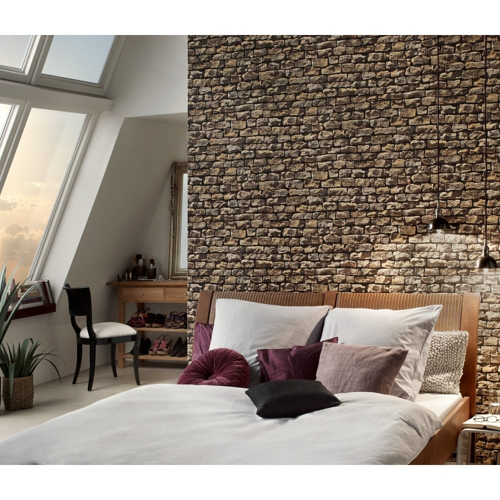 Five Super Stone Wallpaper Ideas For Your Home I Want Wallpaper Blog Wallpaper Ideas Inspiration