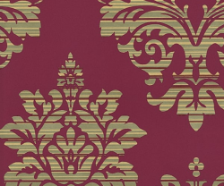 Catherine Lansfield Damask Pattern Wallpaper Metallic