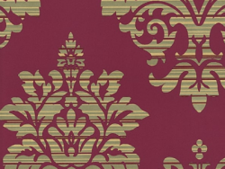 Catherine Lansfield Damask Pattern Wallpaper Metallic