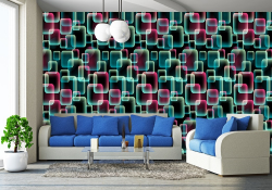 Retro Abstract Mural