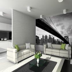 NYC bridge industrial mural