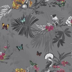 Arthouse Forest Bird and Butterfly Wallpaper