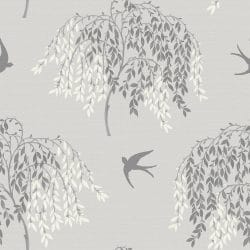 Arthouse Willow Tree and Bird Wallpaper