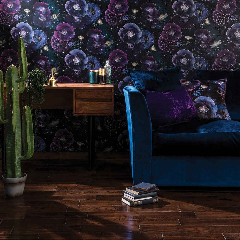 Arthouse Nocturnal English Garden Wallpaper, a statement, 2021 on-trend style