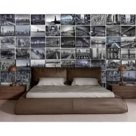 1 Wall City Scene New York London 64 Piece Creative Collage Wall Art
