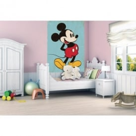 1 Wall Disney Mickey Mouse Retro Wallpaper Mural 1.58m x 2.32m