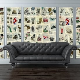1 Wall Marion McConaghie British Book 64 Piece Creative Collage Wall Art