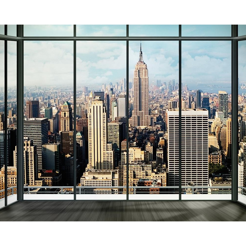 1 wall new york window skyline giant wallpaper mural. Black Bedroom Furniture Sets. Home Design Ideas