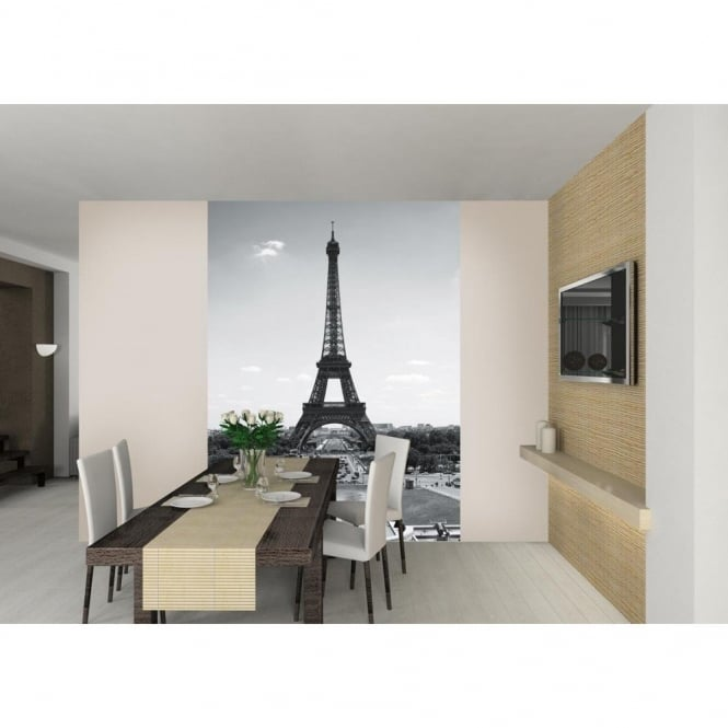 1 Wall Paris Eiffel Tower Wallpaper Mural 1.58m x 2.32m