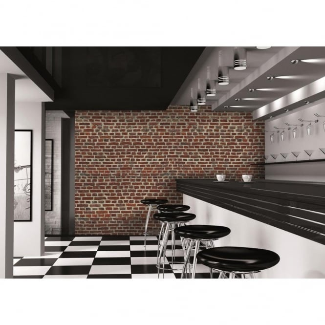 1 Wall Red Brick Wall Photo Giant Poster 3.15 x 2.32m