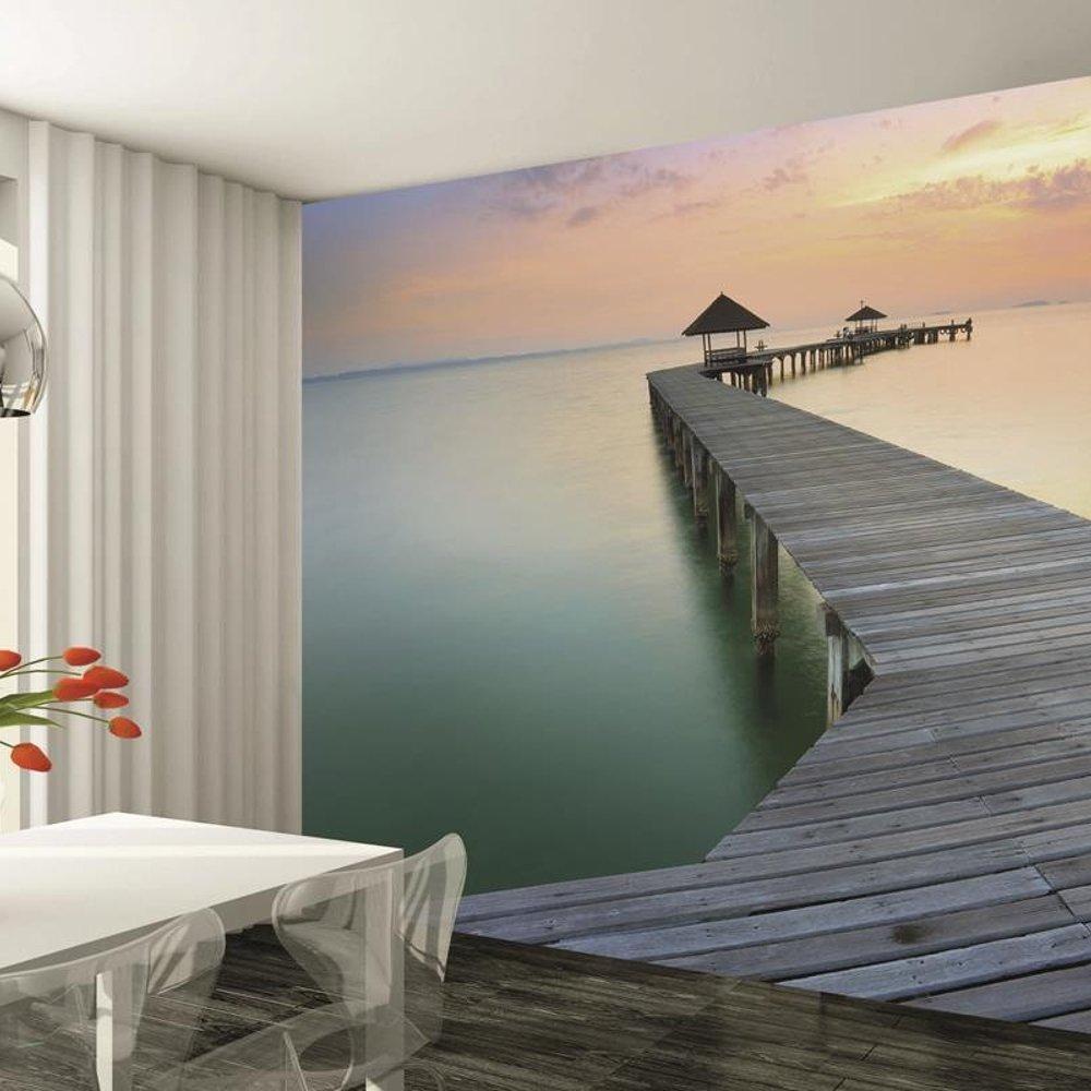 1 wall seaside ocean pier giant wallpaper mural w8p dream 001 for Wall mural wallpaper