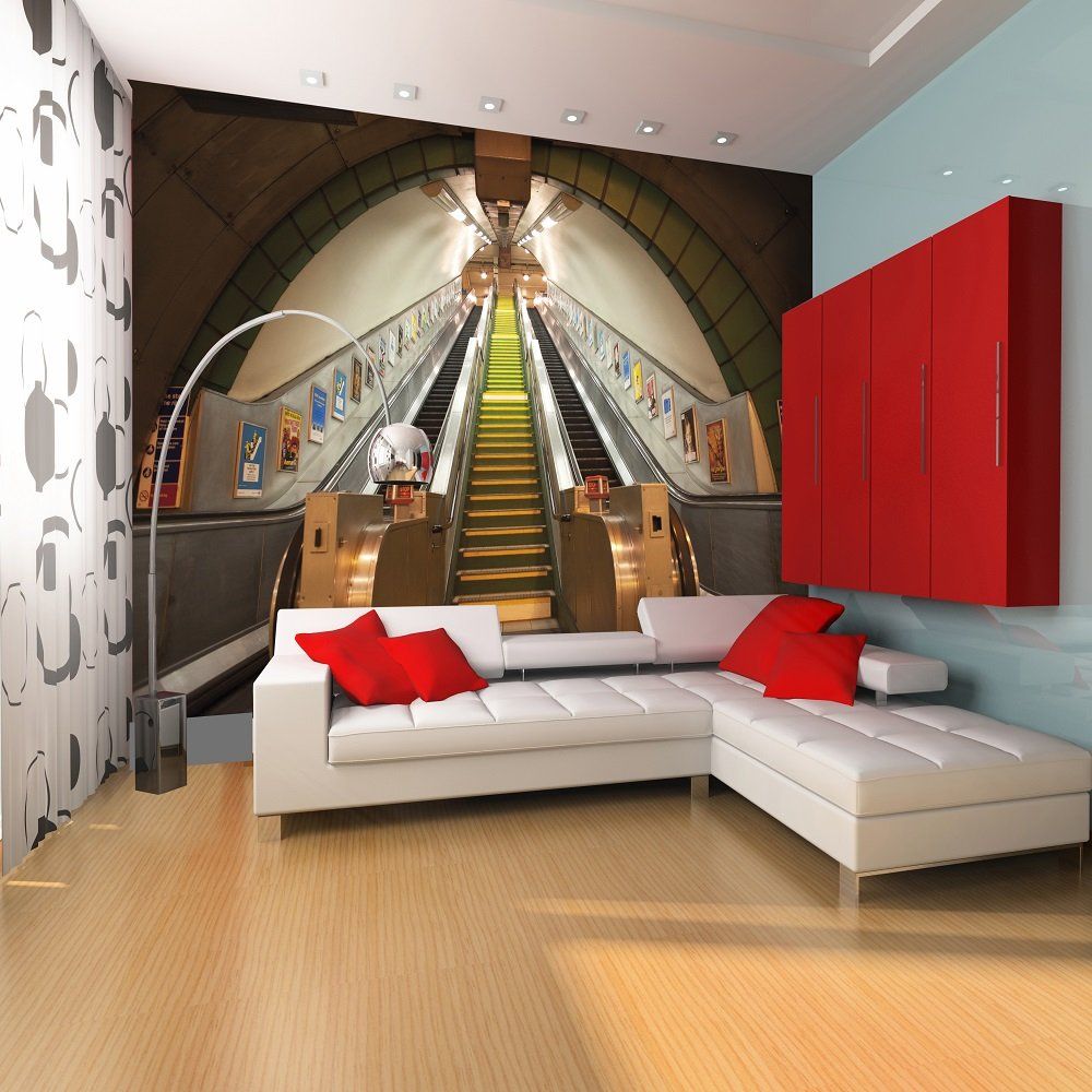 murals 1 wall 1 wall subway london underground giant wallpaper. Black Bedroom Furniture Sets. Home Design Ideas