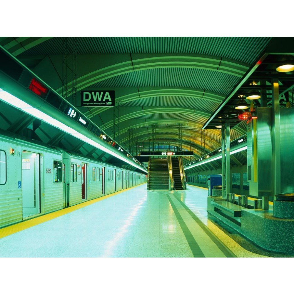 Wallpapers Of Trains: 1 Wall Subway Train Platform Photo Mural Giant Poster 3.15