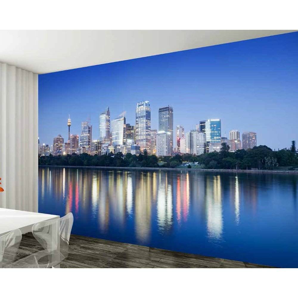 1 wall sydney skyline giant wallpaper mural w8p sydney 001 for City scape wall mural