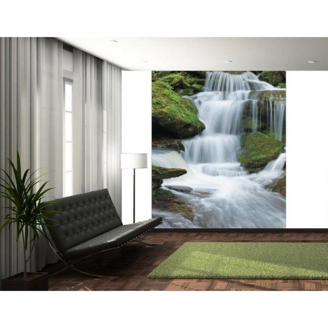 1 Wall Tropical Forest Waterfall Wallpaper Mural X