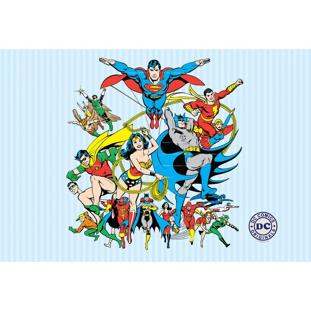 1 wall wallpaper mural superman batman justice league 1 for Batman mural wallpaper uk