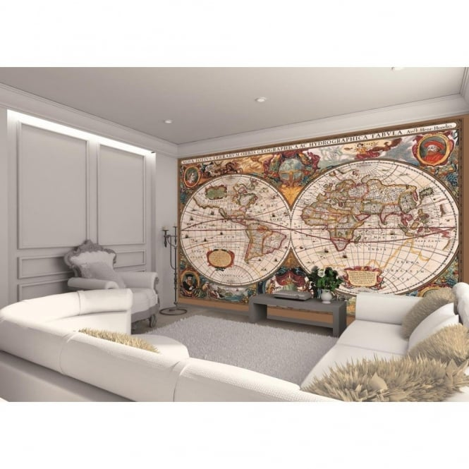 1 Wall Antique Map Photo Giant Poster 3.15 x 2.32m