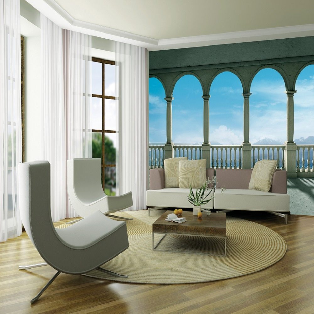 Wall Paper Mural 1 wall giant wallpaper mural columns panoramic sea view 3.15m x 2.32m