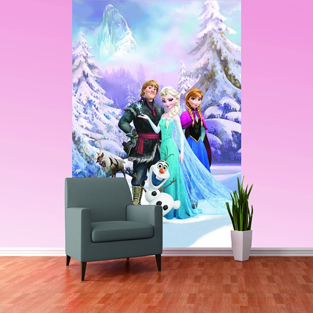 disney frozen anna elsa olaf sven bedroom mural wallpaper disney frozen anna elsa olaf sven bedroom mural wallpaper wall decor 2 32x1 58m