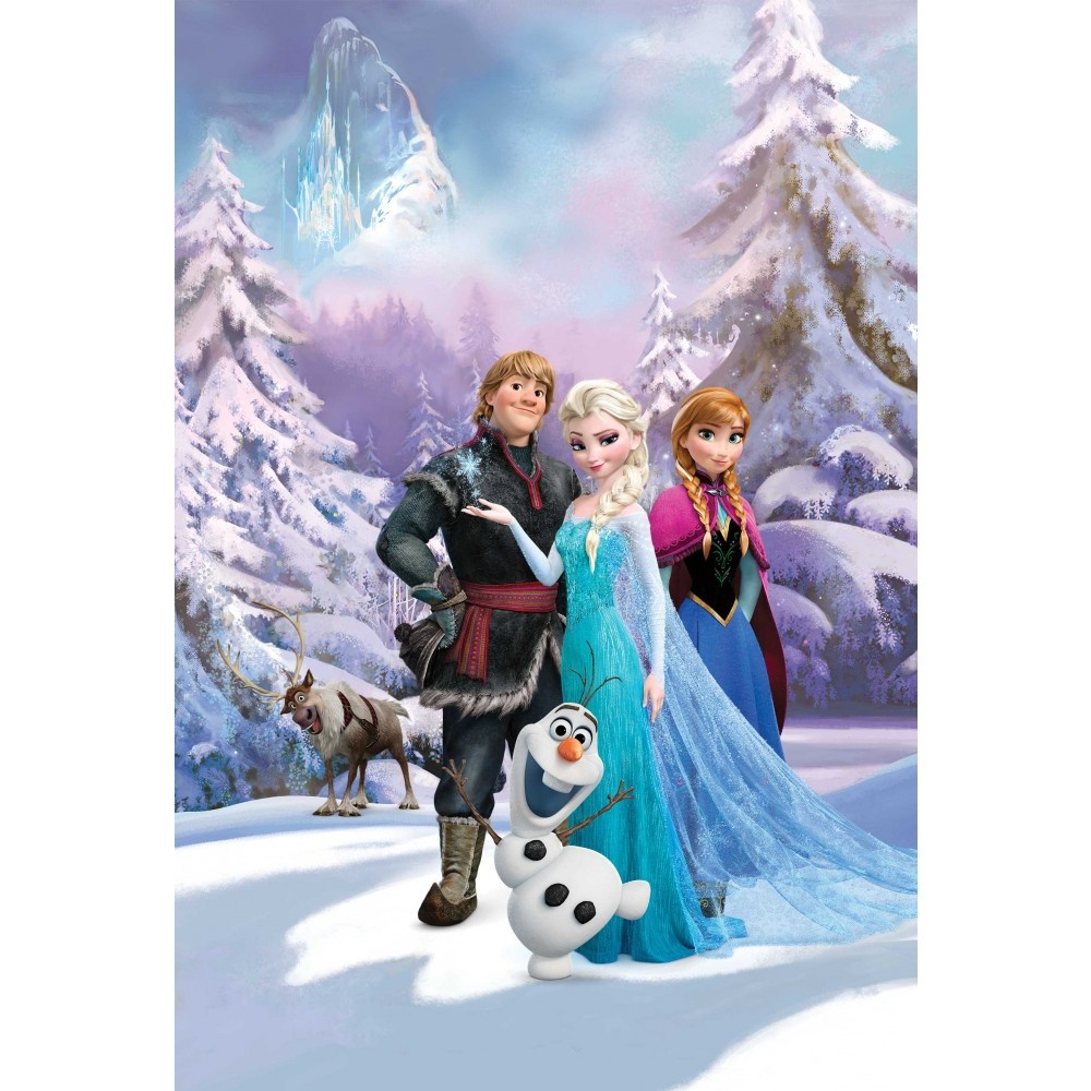 Disney frozen anna elsa olaf sven bedroom mural wallpaper - Frozen anna and olaf ...