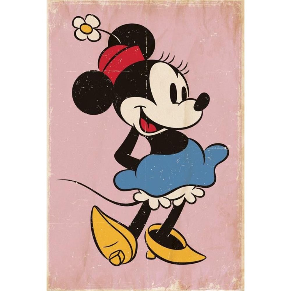 1 Wall Disney Minnie Mouse Retro Wallpaper Mural 1.58m x 2 ...