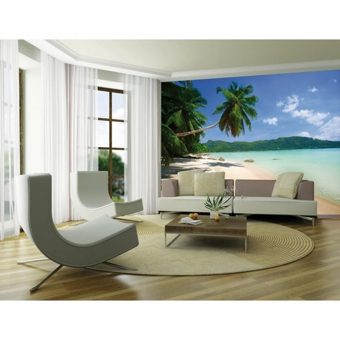 1 Wall Dream Beach Tropical Palm Tree Mural Photo Giant Poster 3.15 x 2.32m