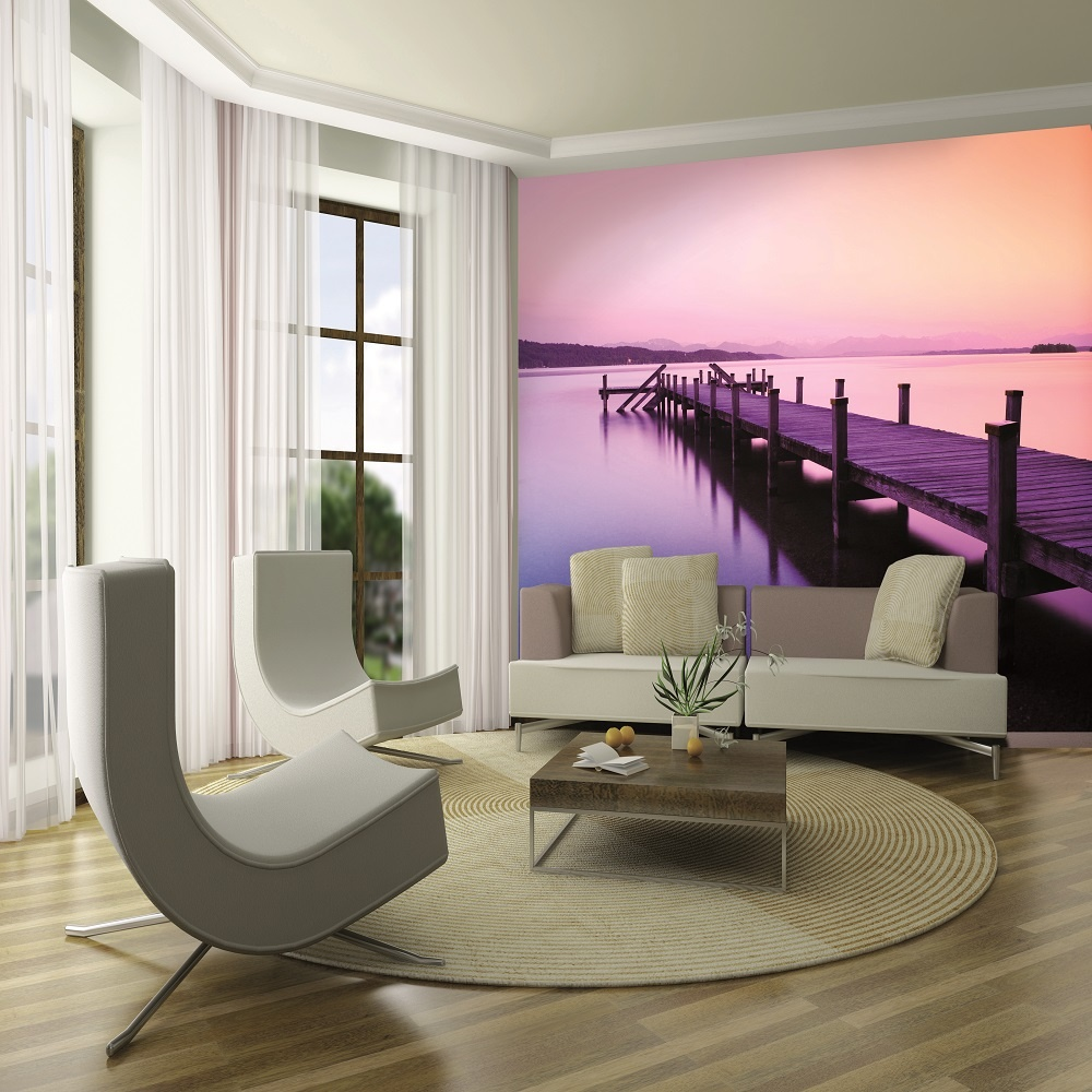 1 wall giant wallpaper mural dream sunset lake jetty 3 15m
