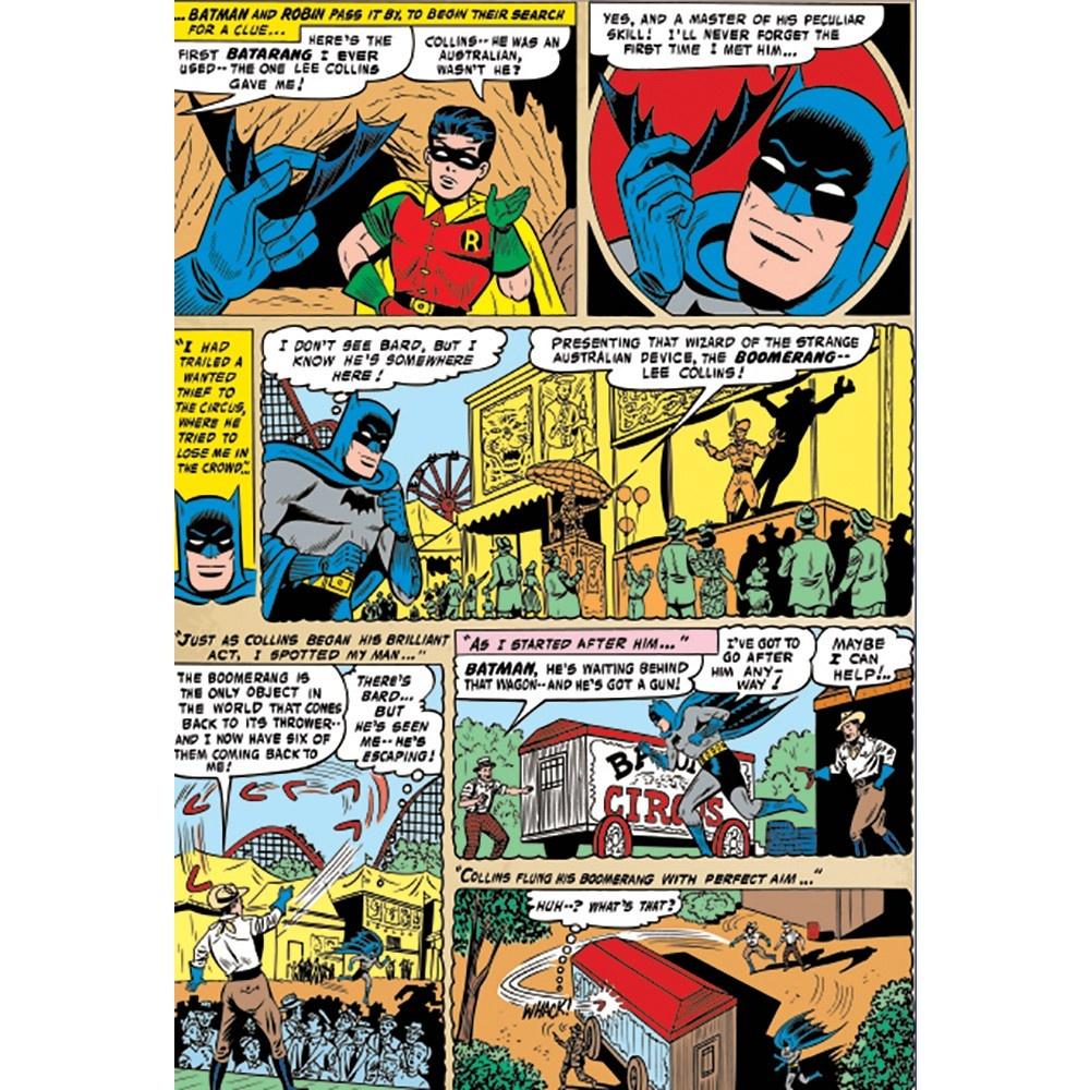 Free Comic Book Day Wallpaper: 1 Wall Easy-Hang Wallpaper Mural Batman Comic Panel 1.58m