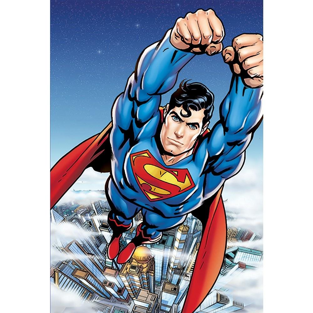 1 Wall Easy Hang Wallpaper Mural Superman Portrait Comic 1.58m X 2.32m Part 97