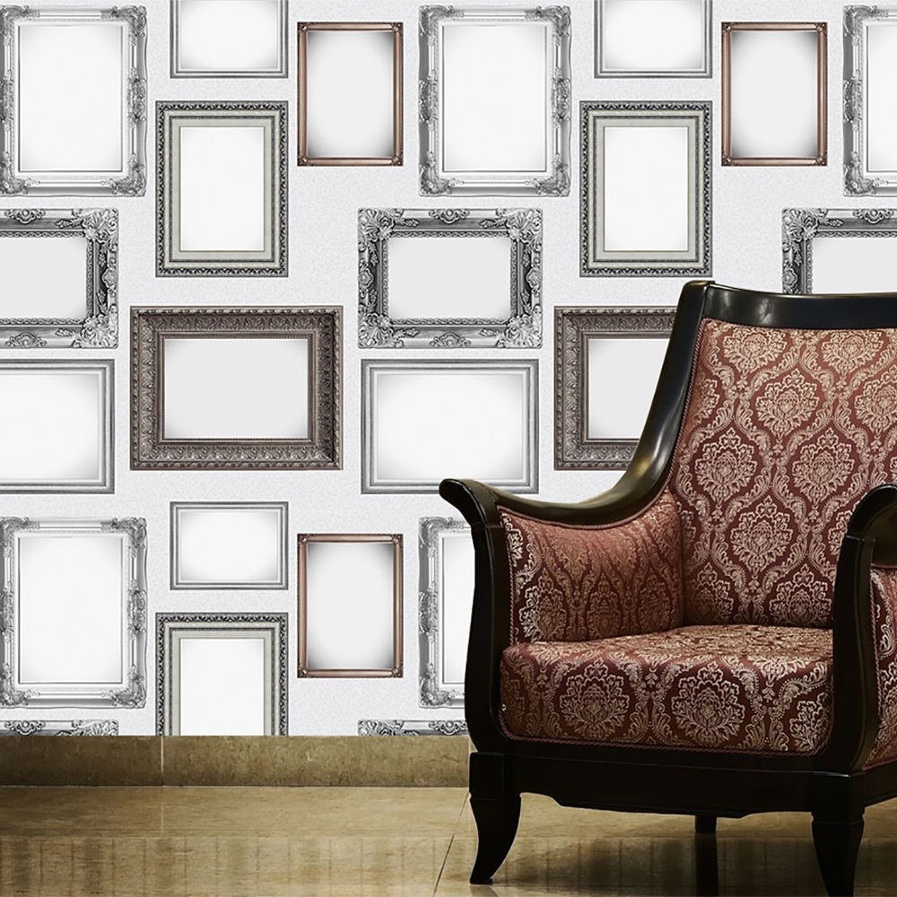 1 Wall Frames Pattern Picture Photo Frame Ornate Wallpaper ...