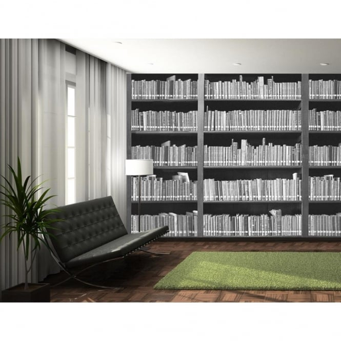 1 Wall Library Book Shelf Retro Photo Giant Poster 3.15 x 2.32m