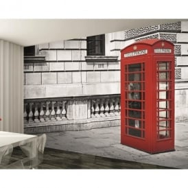 1 Wall London Red Phone Box Giant Wallpaper Mural