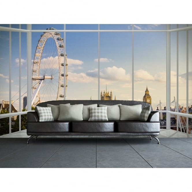 1 Wall London Window Skyline Photo Giant Poster 3.15 x 2.32m