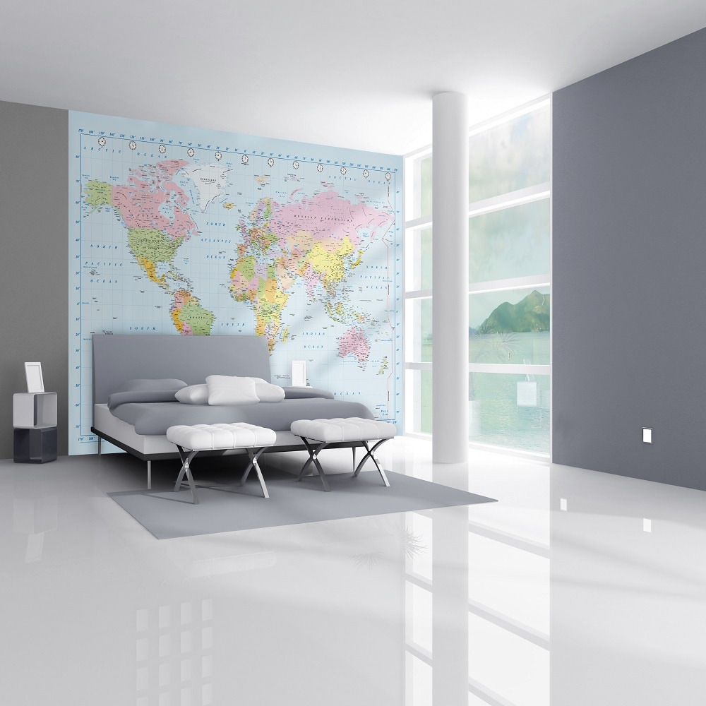 1 Wall Map Of The World Giant Wallpaper Mural