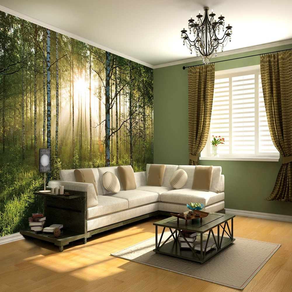 wall murals 1 wall forest giant wallpaper mural p555 894. Black Bedroom Furniture Sets. Home Design Ideas