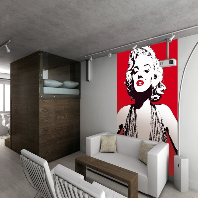 1 wall wallpaper mural marilyn monroe pop art 1 58m x 2 32m wall mural marilyn monroe