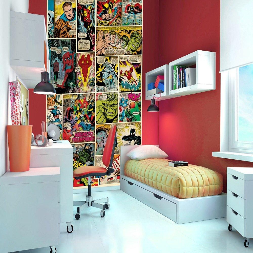 1 wall wallpaper mural marvel comics 1 58m x 2 32m