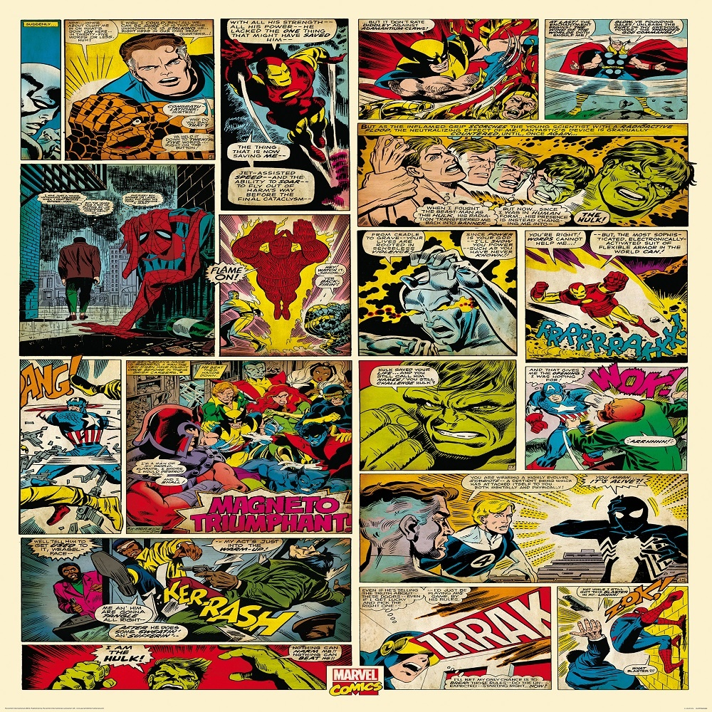 1 wall wallpaper mural marvel comics x for Comic book wallpaper mural