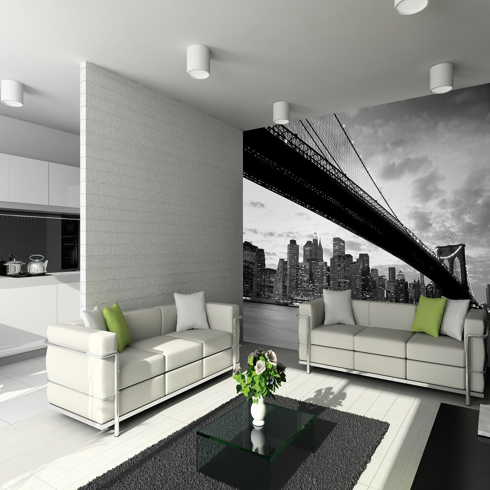 1 wall giant wallpaper mural new york nyc brooklyn bridge3 for Mural wallpaper