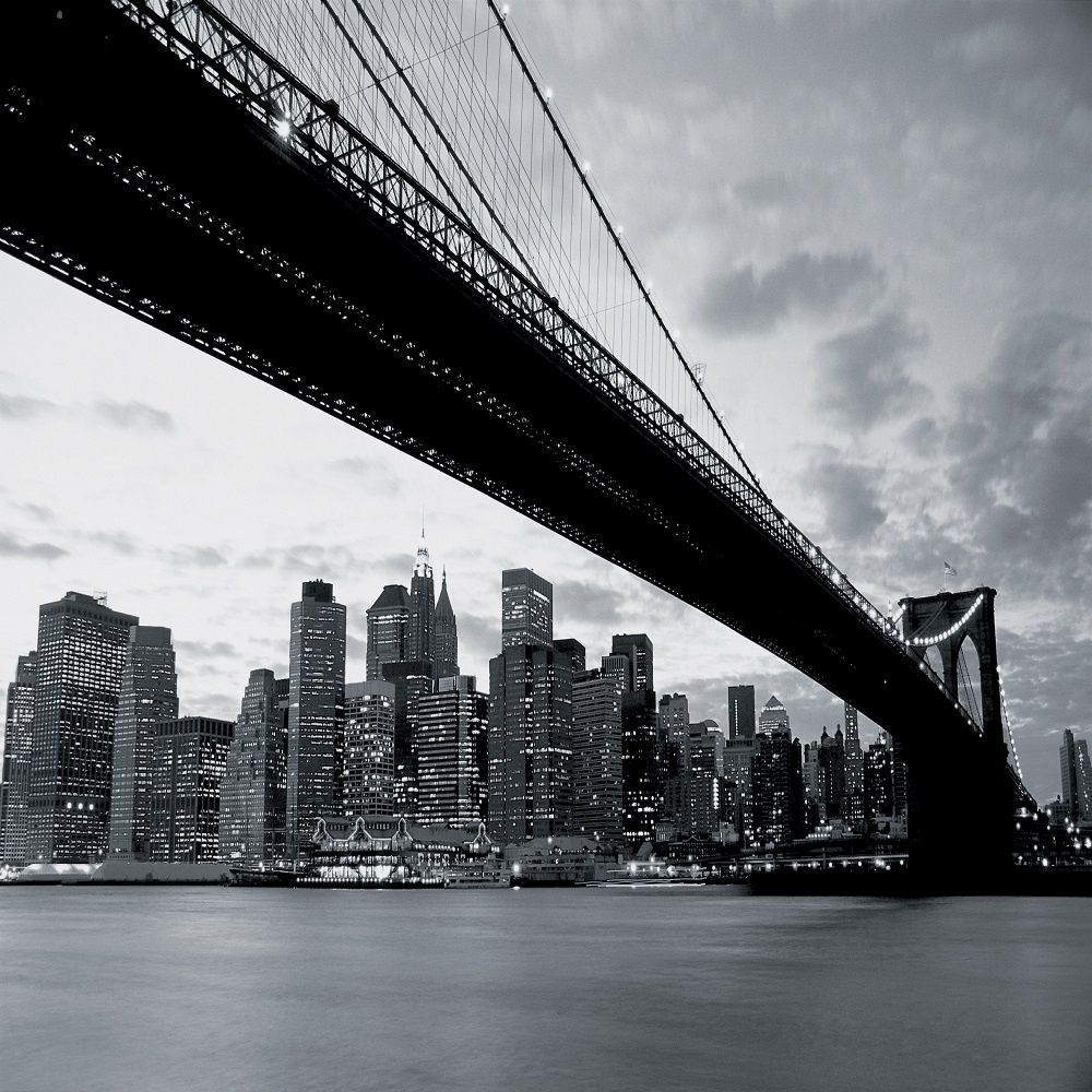 1 wall giant wallpaper mural new york nyc brooklyn bridge3 for Brooklyn bridge wallpaper mural