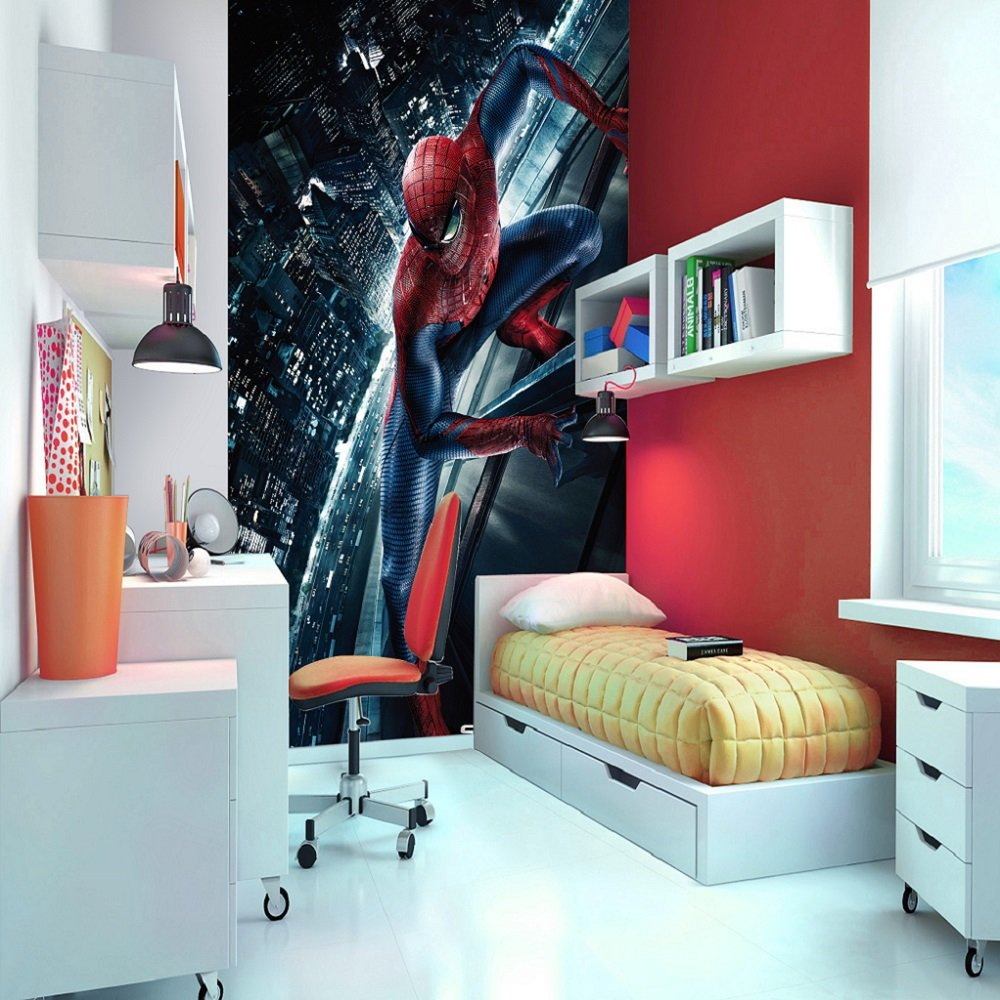 home murals 1 wall 1 wall spiderman wallpaper mural. Black Bedroom Furniture Sets. Home Design Ideas