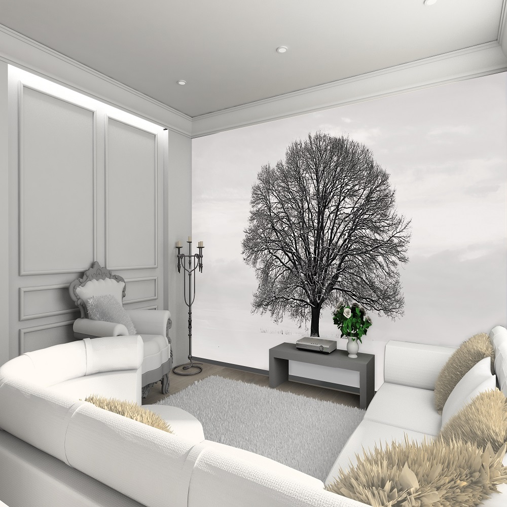 wall murals 1 wall tree giant wallpaper mural p560 904. Black Bedroom Furniture Sets. Home Design Ideas