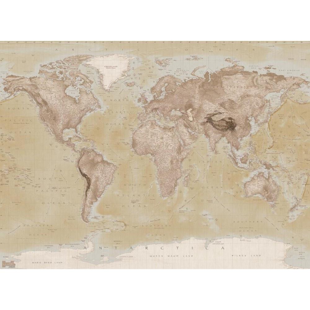 1 wall neutral world map atlas wallpaper mural 158m x 232m w2pl 1 wall neutral world map atlas wallpaper mural 158m x 232m gumiabroncs Gallery