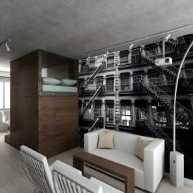 1 Wall New York Fire Escapes Giant Wallpaper Mural